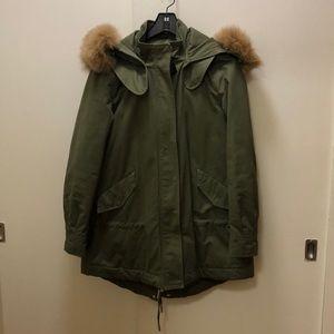 10 Crosby Derek Lam Jackets & Coats - Derek Lam Fox Fur Collar Parka 2